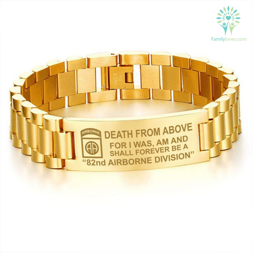 Death from above, for I was am and shall forever be a 82nd Airborne Division bracelets Default Title %tag familyloves.com