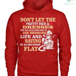 familyloves.com Don't let the pretty face and dresses fool you! women t-shirt, hoodie %tag