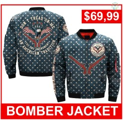 familyloves.com DONT TREAD ON ME, THE 2ND AMENDMENT AN AMERICAN TRADITION OVER PRINT JACKET %tag