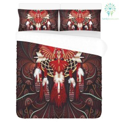 DREAMCATCHER EAGLE NATIVE 3-Piece Bedding Set 1 Duvet Cover 2 Pillowcases %tag familyloves.com