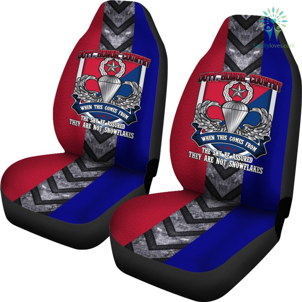 Duty, honor, country when this comes from the sky... U.S. Army Paratrooper car seat cover %tag familyloves.com