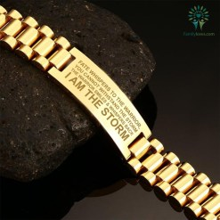 Fate whispers to the warrior, you cannot withstand the storm, Veteran men's bracelets %tag familyloves.com