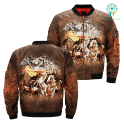 Find 15 Horses over print jacket %tag familyloves.com