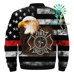 familyloves.com Firefighter over print Bomber jacket v3.0 %tag