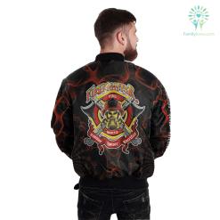 familyloves.com Firefighter tradition honor sacrifice over print Bomber jacket %tag