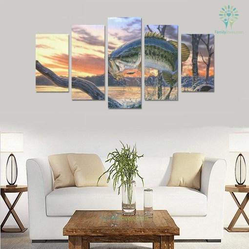 Fishing wall art fly fish 5 Pieces Canvas %tag familyloves.com