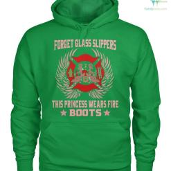 familyloves.com Forget glass slippers this princess wears fire boots women t-shirt, hoodie %tag