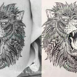 Hot Sale The roar of the Lion King Temporary Tattoo Stickers %tag familyloves.com