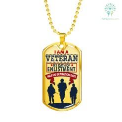 familyloves.com I am a Veteran Luxury Add Engraving Dog Tag - Military Ball Chain Military Chain (Gold) Military Chain (Silver) %tag