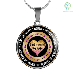 I am fortunate enough to live walk & breathe among the bravest of heroes Luxury Necklace & Bangle Bracelet Bangle-Bracelet adjustable Luxury Necklace w/ adjustable snake-chain %tag familyloves.com