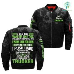 familyloves.com I DID NOT WAKE UP LIKE THIS, I CHANGED MY LIFESTYLE FOR THIS, I WORK LATE FOR THIS, I SWEAT FOR THIS.. TRUCKER OVER PRINT JACKET. %tag