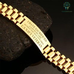 I HAVE SACRIFICED A LOT IN MY LIFE SO THAT YOU MAY LIVE FREE U.S NAVY VETERAN MEN'S BRACELETS %tag familyloves.com
