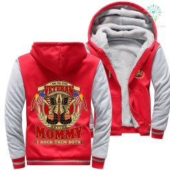 I have two title veteran and mommy I rock them both woman hoodie %tag familyloves.com