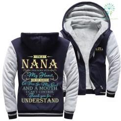 familyloves.com I'm a nana I was born with my heart on my sleeve... woman hoodie %tag