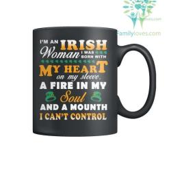 familyloves.com I'M AN IRISH WOMAN I WAS BORN WITH? MY HEART-MUGS St. Patricks shirt, St. Patrick's Day shirt, St. Patricks day, St Pattys day shirt, Sizes S-5XL %tag