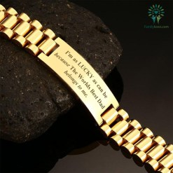 familyloves.com I'm as lucky as can be because the worlds best dad belongs to me-men bracelets %tag