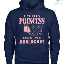 I'm his princess he's my hero women t-shirt, hoodie %tag familyloves.com