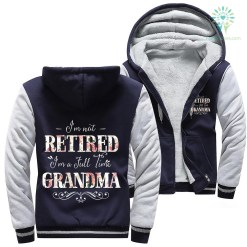 familyloves.com I'm not retired I'm a full time grandma woman hoodie %tag