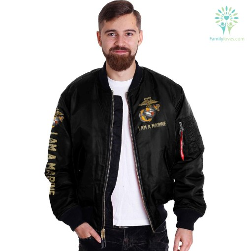 i was a warrior i am no hero but i have served with a few i will never accept defeat - Marine over print Bomber jacket %tag familyloves.com