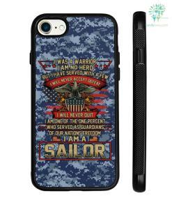 I was a warrior I am no hero - Sailor Samsung, iPhone case %tag familyloves.com