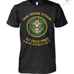 familyloves.com Iraqi freedom veteran 1st field force b btry 4th 60th arty? t-shirt %tag