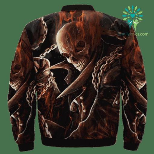 Ghost Rider Over Print Jacket %tag familyloves.com
