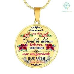 familyloves.com Kein mensch war ohne grund in deinem leben der eine war ein geschenk, der andere eine lektion Luxury Necklace (Gold) Luxury Necklace (Silver) %tag