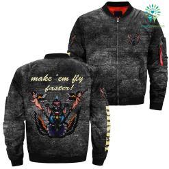 familyloves.com Make 'em fly faster! over print jacket %tag