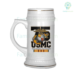 familyloves.com Marine corp est 1775 semper fidelis vietnam veteran BEER STEIN %tag