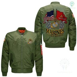 familyloves.com MARINES I'M NOT RETIRED, ONCE A MARINE ALWAYS A MARINE, OORAH SEMPER FI JACKET-JACKET EMBROIDERED VERSION %tag