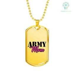familyloves.com Military Mom Luxury Add Engraving Dog Tag - Military Ball Chain Military Chain (Gold) Military Chain (Silver) %tag