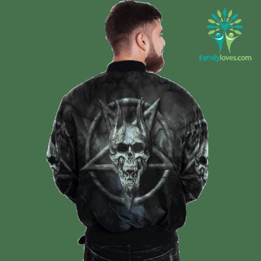 Skull Pentagram Over Print Jacket payment shipping %tag familyloves.com