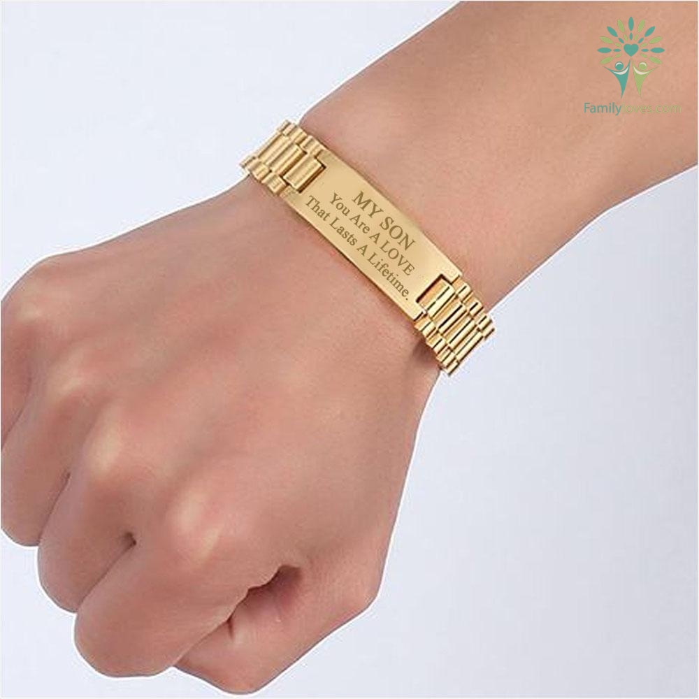 My Son You are a love that lasts a lifetime - men bracelets %tag familyloves.com
