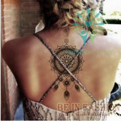 Native american Arabic Fake black temporary tattoos stickers for arm shoulder tatoos %tag familyloves.com