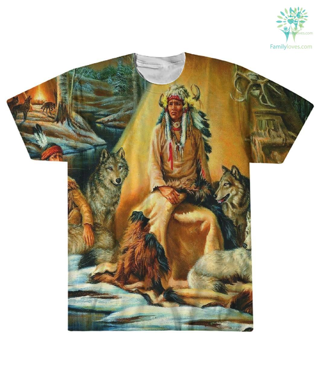 NATIVE AMERICAN ARCHIVES OVER PRINT T-SHIRT %tag familyloves.com