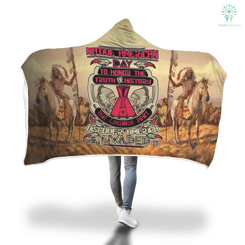 Buy Native American Day To Honor Hoodie Blanket