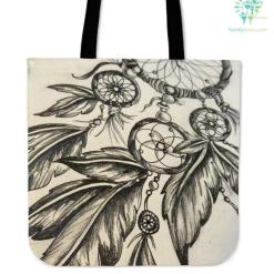 Native American Dreamcatcher Tote Bags %tag familyloves.com