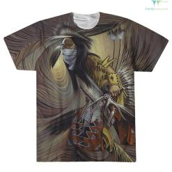 familyloves.com NATIVE AMERICAN INDIAN ARTISTS OVER PRINT T-SHIRT %tag