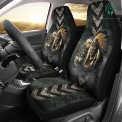 Native American indian eagle wolf spirit animals car seat cover %tag familyloves.com