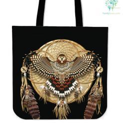Native American Owl Dreamcatcher Tote Bag %tag familyloves.com