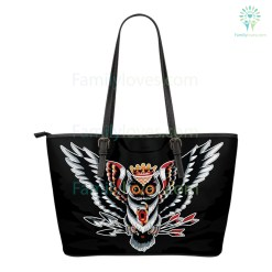 familyloves.com Native American Owl Small Leather Bags %tag