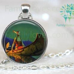 familyloves.com Native American Pendant Necklace %tag