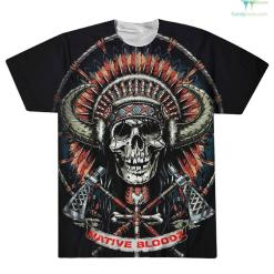 familyloves.com Native Blood Over Print T-Shirt %tag