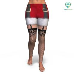 Naughty Santa All-Over Print Leggings %tag familyloves.com