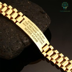 NEVER FORGET THE WAY THE VIETNAM VETERAN WAS TREATED UPON RETURN NEVER AGAIN - MEN'S BRACELETS Default Title %tag familyloves.com
