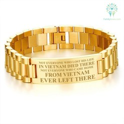 familyloves.com Not everyone who lost his life in Vietnam men's bracelets Default Title %tag