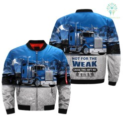 familyloves.com NOT FOR THE WEAK CAUSE THIS AIN'T NO 9 TO 5 OVER PRINT JACKET %tag