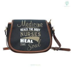 familyloves.com Nurse Heal The Soul Saddle Bag %tag