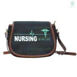 familyloves.com Nursing Is My Life Saddle Bag %tag