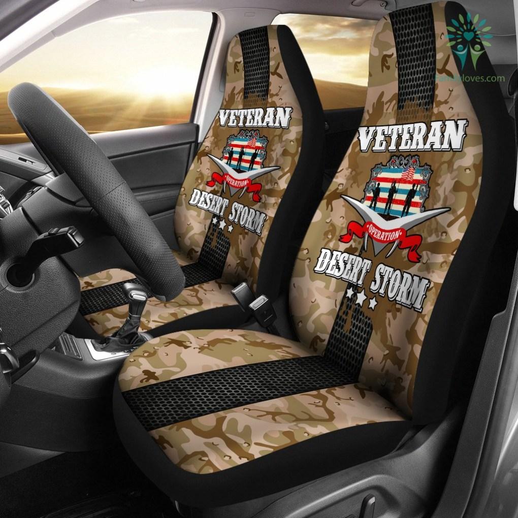 familyloves.com Operation Desert Storm Veteran car seat cover %tag